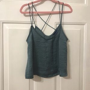 Cute Blue Strappy Tank NWOT